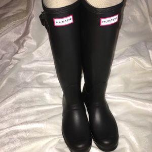 Hunter Original Matte Black Tall Rain Boots